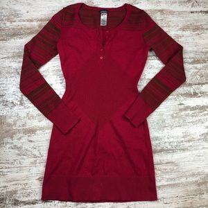 Patagonia Lambswool Blend Henley Sweater Dress